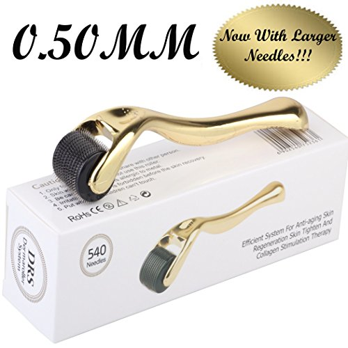 Derma Roller by Golden Touch Luxury Skincare Collection- 540 Premium Quality Titanium Pins! - Comes with Storage...
