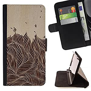 Jordan Colourful Shop - vintage ink brown black foliage For Apple Iphone 5C - Leather Case Absorci???¡¯???€????€?????????