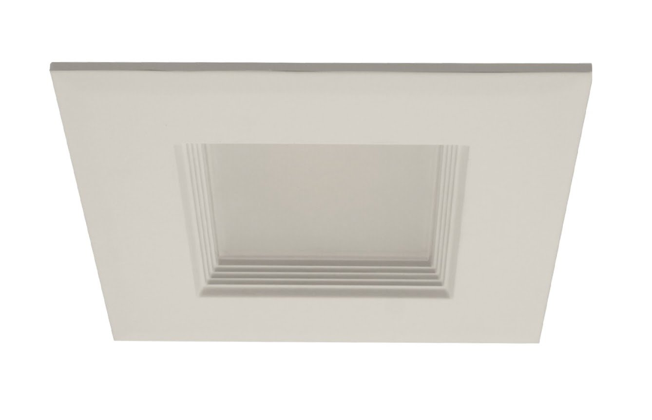 NICOR Lighting 4-Inch Square Dimmable 3000K LED Recessed Retrofit Downlight, White (DLQ4-10-120-3K-WH) by NICOR Lighting