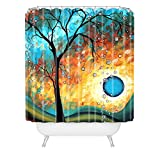 DENY Designs Madart Aqua Burn Shower Curtain, 69-Inch by 72-Inch