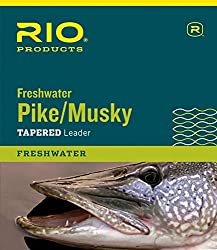 Rio Fly Fishing Pikemusky Ii 7.5' 30lb Class 45lb Stainless Wire With Snap Fishing Leaders, Clear