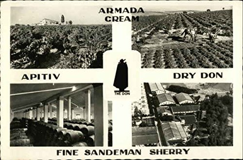 Vintage Advertising Postcard: Armada Cream, Dry Don, Apitiv, Fine Sandeman Sherry Advertising