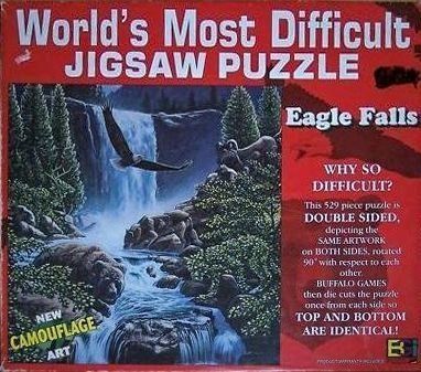 Eagle Falls - World's Most Difficult Jigsaw 529 Puzzle - 529 Jigsaw Pieces by Buffulo Games, Inc. e99585