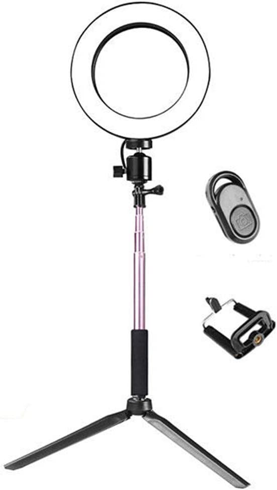 AiKuJia LED Ring Light Camera Photo Video Lightning Video Ring Light with Extendable Selfie Stick Stand Tripod Phone Clip for TIK Tok YouTube Live Streaming Selfie Photography