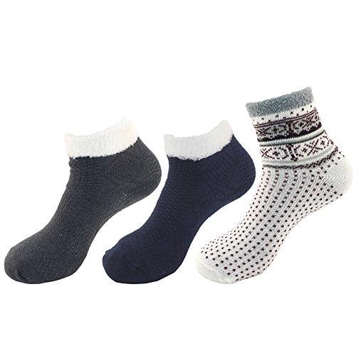 Bamboomn Womens Super Zacht Warm Cosy Fuzzy Socks Assortiment Assortiment D