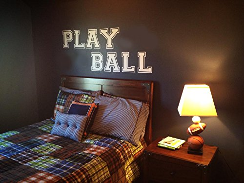- Wall Decor Plus More Play Ball Art for Kids or Teen Wall Sticker Decal 6