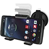 Motorola Droid Turbo XT1254 Easy-dock Car Mount Holder [Windshield/Dashboard Cradle Kit] New 2015 Version **Encased® Lifetime Warranty**
