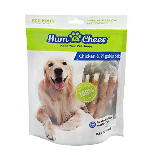 Hum & Cheer HM041CP001-250 Dog treats 8.82 oz Chicken & Pigskin Stix for Training chews puppy snacks, One (250 Chew)