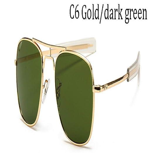 Yangjing-hl Moda Vintage AO Gafas de Sol Hombres Diseñador ...