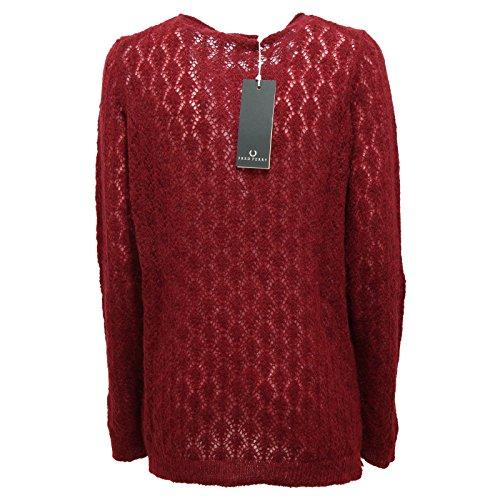 2231r Bordeaux Sweatshirt Fred Woman Perry Donna Maglione aB5B1xFqw