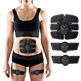 CHARMINER Muscle Toner, Abdominal Toning Belt, EMS Abs Trainer Wireless Body Gym Workout Home Office Fitness Equipment For Abdomen/Arm/Leg Training Men Women