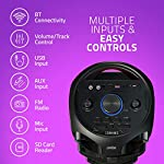 BT700 Wireless Bluetooth Super Bass Portable Party Speaker with RGB Lights, Wireless Mic, Remote Control, FM Radio & Aux in/USB/TF Card Reader Input
