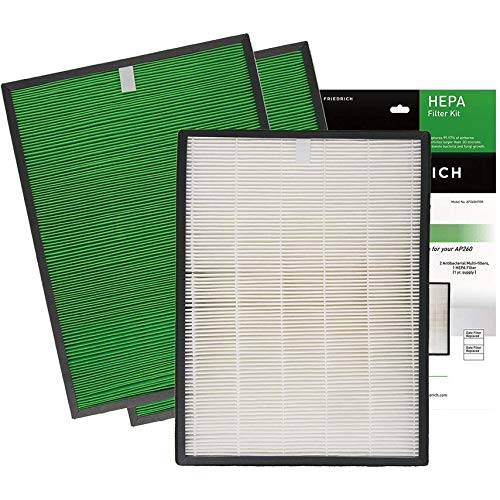 """Friedrich"" AP260HFRK HEPA Filter Replacement Kit Friedrich.Inc"