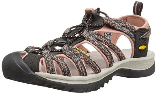 (KEEN Women's Whisper Sandal,Raven/Rose Dawn,8 M US)