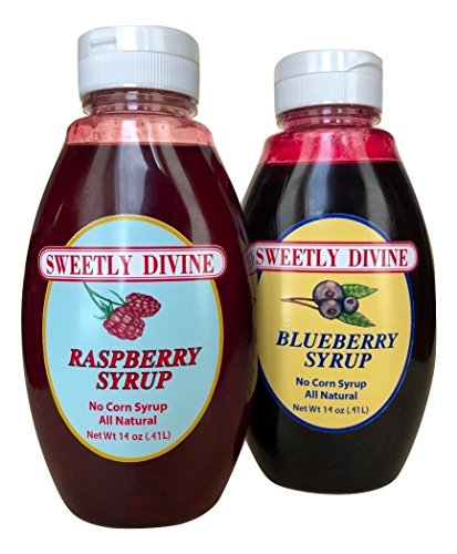 Sweetly Divine Natural Fruit Flavored Syrup for Coffee, Pancakes, Waffles, Ice Cream - Healthy and Great Tasting Flavoring Syrup - No High Fructose Corn Syrup (Flavor Variety, (2) 14 oz bottles) (Best Tasting Pancake Syrup)