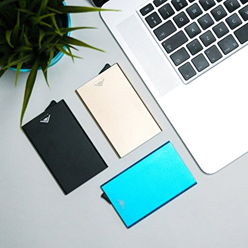 v4 Ejector Red Blue Blocking Credit STEALTH IMPROVED Card 2018 Aluminium by MODEL RFID JUNE Holder Wallet money clip with xPUHqnw6Xn