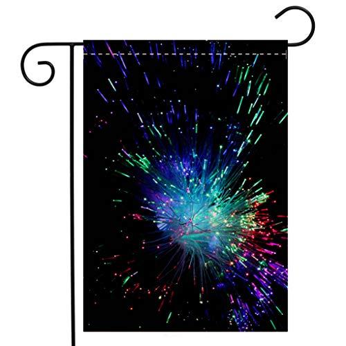 (BEIVIVI Creative Home Garden Flag Fiber Optic Welcome House Flag for Patio Lawn Outdoor Home Decor)