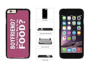Boyfriend Funny Way to Say will Food Plastic Phone Case popular Back is Cover Apple iPhone 6 (4.7 Inches) With Kimberly Kurzendoerfer