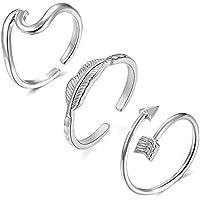 Wave Rings Arrow Ring Adjustable Rings for Women Vsco Rings Love Knot Ring V Ring Silver Gold Rose Gold Rings for Teen…