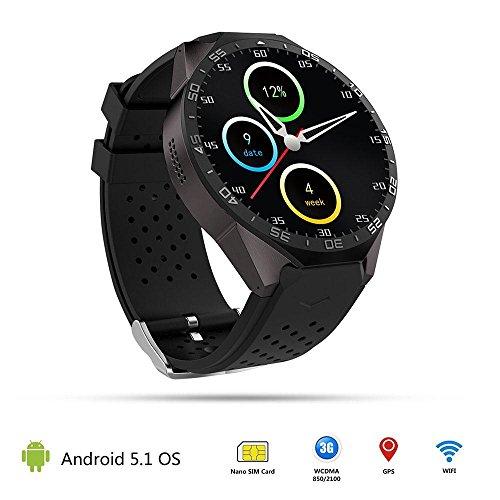 Teepao KW88 3G Smart Watch WIFI Smartwatch teléfono móvil todo en uno Bluetooth Smart Watch Android 5.1 tarjeta SIM con GPS, cámara, monitor de ritmo ...