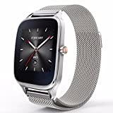 "Gear S3 Watch Band Milanese Magnetic Loop Stainless Steel metal replacement bracelet strap for Gear S3 Frontier/ Gear S3 Classic/ Moto 360 2nd Gen 46mm Smartwatch/ Asus ZenWatch 2 [1.63""]"