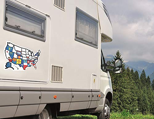 USA States Visited Decal RV State Sticker Travel Map United States ...
