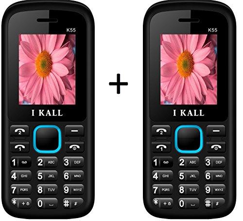 I Kall K55 set of 2 Dual Sim Mobiles (Blue & Blue)