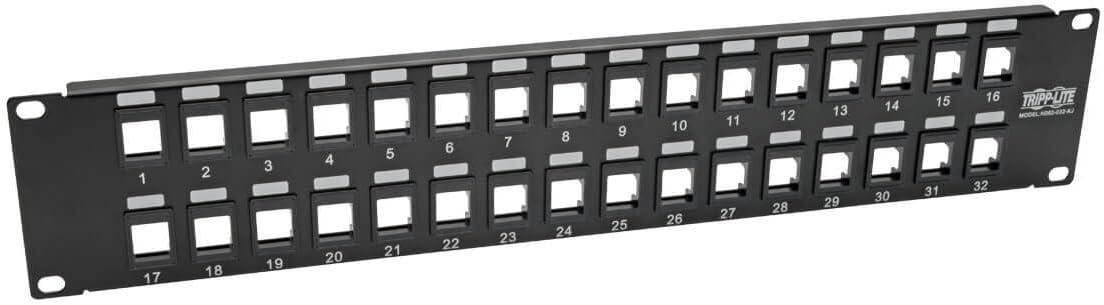 Renewed C2G 03858 16-Port Blank Keystone//Multimedia Patch Panel Black