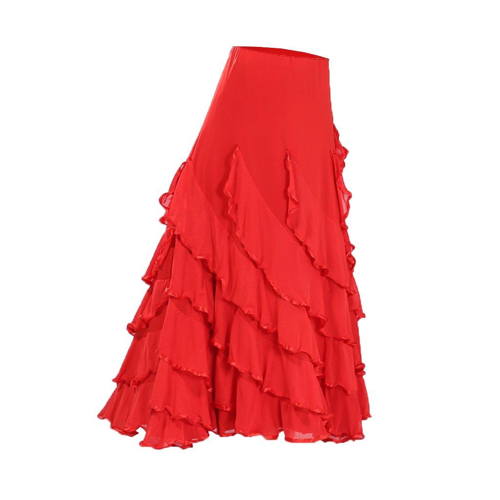 TALLA 920cm. Baoblaze Vestido de Flamenca Ropa de Baile Accesorios de Mujer Falda de Tango