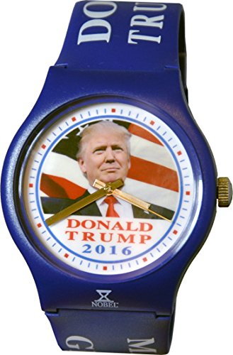Donald Trump Watch - Limited Edition Commemorative Watch - Show Patriotism and Presidential Support - American Flag Background - Assembled by Skilled US Disabled Veterans.
