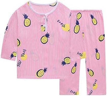 小さな女の子のパイナップルショートパジャマは、幼児ソフトコットン子供の睡眠を設定します。