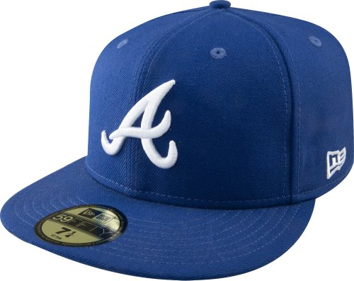 MLB Atlanta Braves Light Royal with White 59FIFTY Fitted Cap, 7 3/8