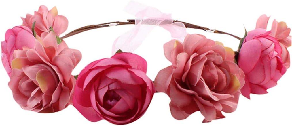 Special Design Brautjungfer Kopfschmuck Hochzeit Accessoires Rote Rose Haarnadel Haarschmuck Braut Blumenkranz Kopfschmuck f/ür Hochzeit Geburtstag Party Bankett Khaki Kr/änze zu dekorieren