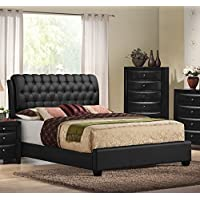 Ireland Black PU Eastern King Bed Set