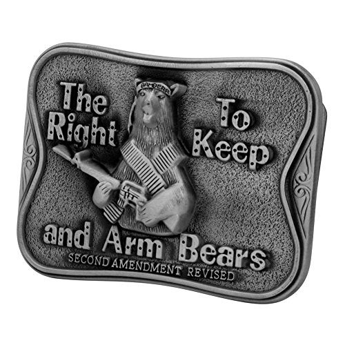 Bear Arms Belt Buckle (Buckle Rage Adult Unisex The Right to Keep And Arm Bear Humor Belt Buckle)