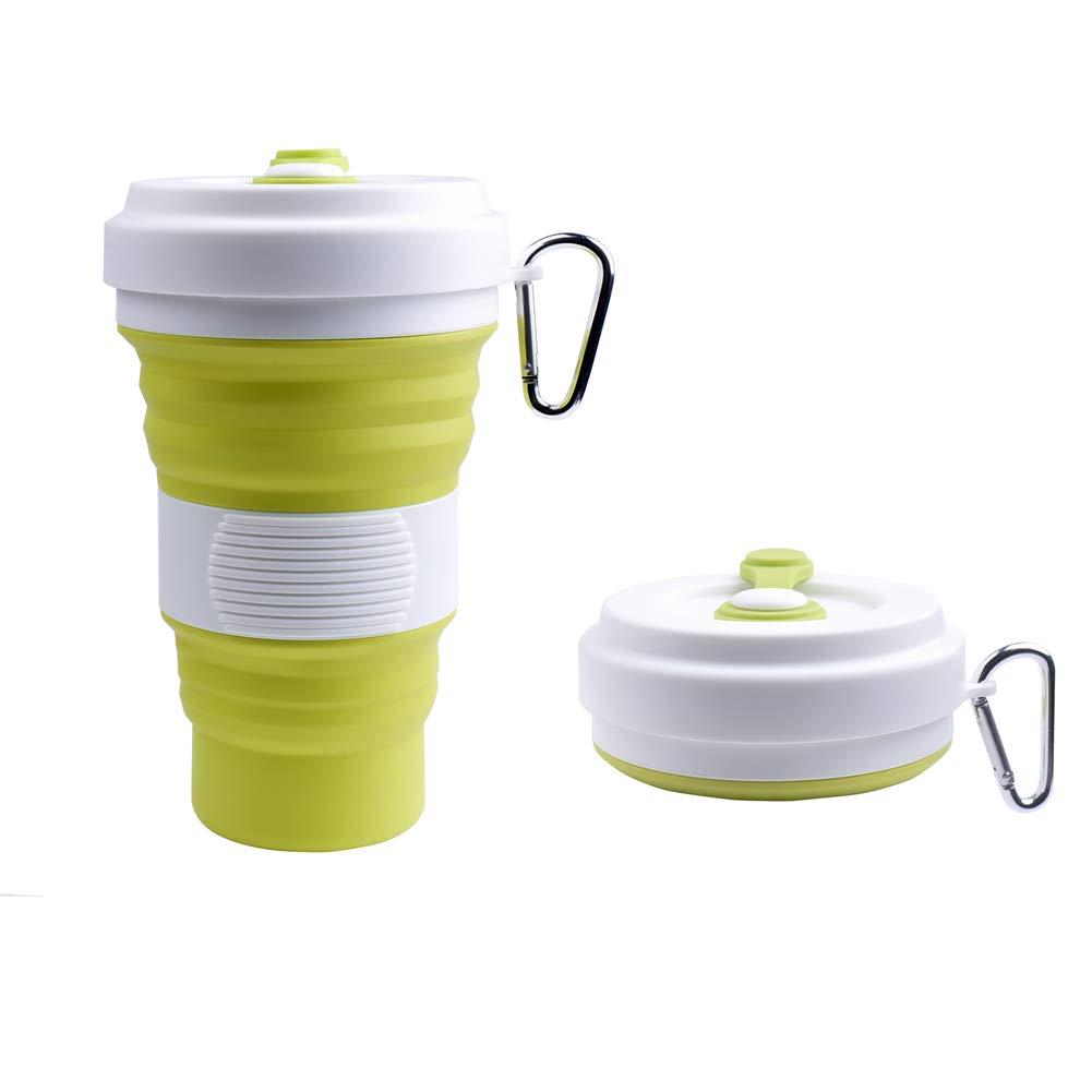 Smiling Shark Floding Travel Cup/Mug - Lightweight Water/Coffee Drinking Bottle Outdoor Camping Hiking - BPA Free