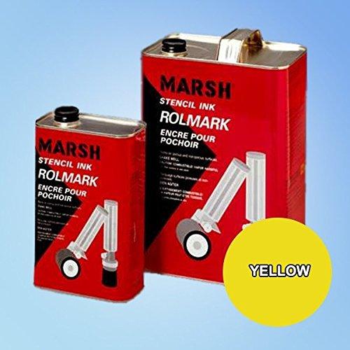 Price comparison product image Marsh Rolmark Yellow Ink - Gallon