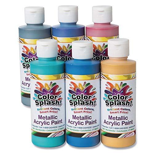- 8-oz. Color Splash! Metallic Acrylic Paint Assortment