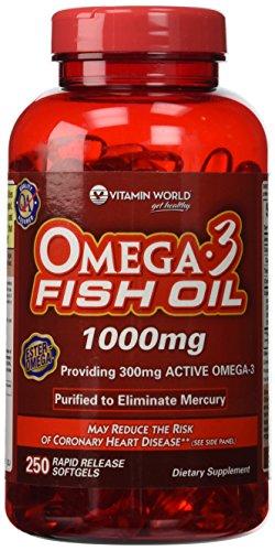 Vitamin World Omega 3 Fish Softgels product image