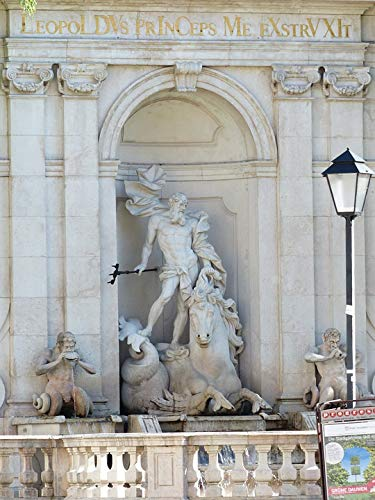 Canvas Print Horse Pond Meeresross Chapter Glut Fountain Neptune Vivid Imagery Stretched Canvas 10 x 14