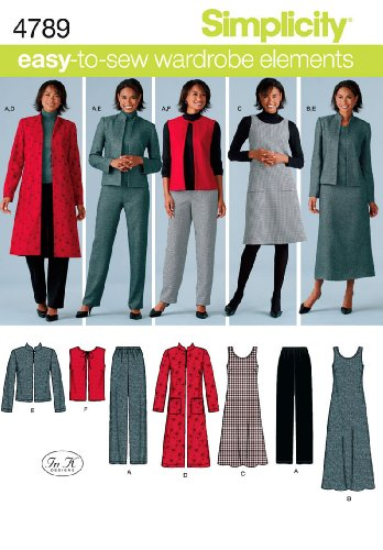 - Simplicity Easy-to-Sew 4789 Plus Size Pants, Vest, Jacket and Jumper Sewing Pattern for Women by In K Design, Sizes BB (20W -28W)