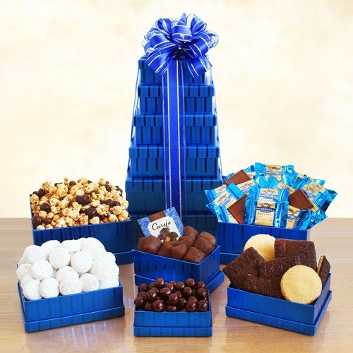 Elegant and Delightul Kosher Gift Tower by The Gift Basket Gallery