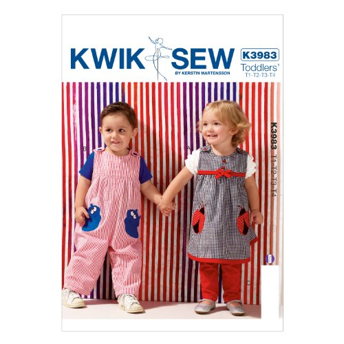 (KWIK-SEW PATTERNS K3983OSZ Toddlers' Dress Overalls and Pants Sewing Template)