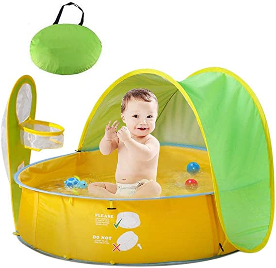 HUSAN Tienda de campaña Piscina Playa bebé,Pop Up Plegable ...