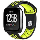 #5: hooroor Fitbit Versa Silicone Sport Bands for Women Men Small Large, Soft Silicone Replacement Strap Wristband for Fitbit Versa Fitness Smart Watch