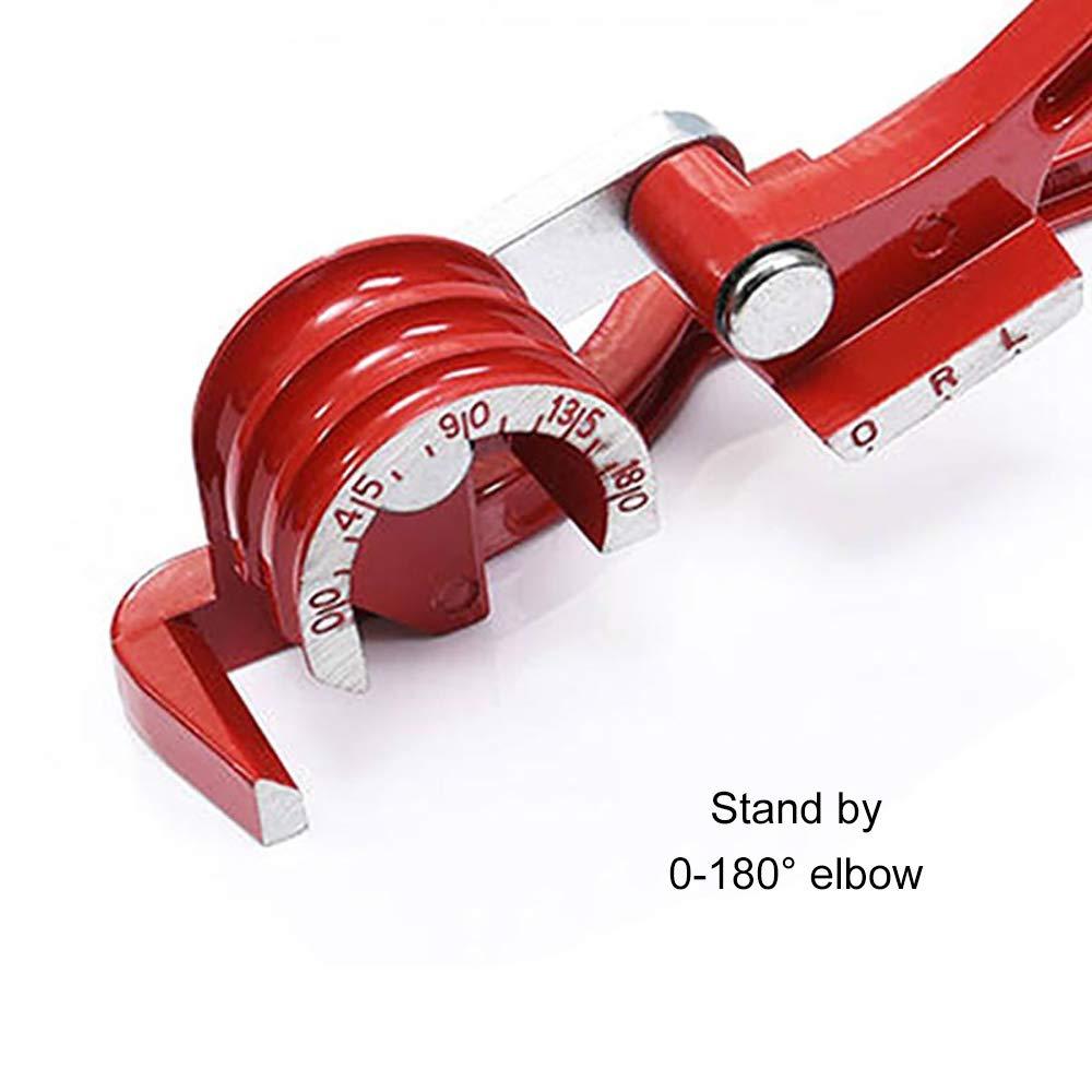 Rohrbieger Hand-Rohrbiegeger/ät 3-in-1-Rohrbiegemaschine Biegezange Rohr Biegewerkzeug 6-10mm 180 /°