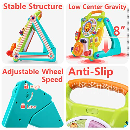 iPlay, iLearn Baby Sit to Stand Walkers Toys, Kids Activity Center, Toddlers Musical Fun Table, Lights 'n Sounds, Learning, Birthday Gift for 6, 9, 12, 18 Month, 1, 2 Year Olds, Infants, Boys, Girls by iPlay, iLearn (Image #3)