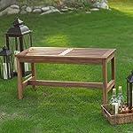 Coral Coast 3 ft. Outdoor Wood Backless Bench, Durable Long-lasting Acacia Wood, Dark Brown