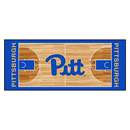 (Fan Mats University of Pittsburgh Basketball Court Runner)