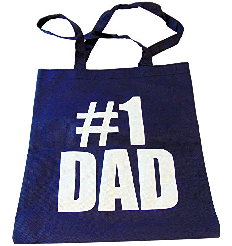 Westman Works Number 1 Dad Fathers Day Gift Bag Reusable Non Woven Tote Bag 14 Inches
